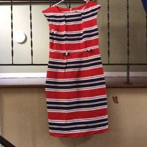 Classic sheath dress with a nautical feel! Sz 10